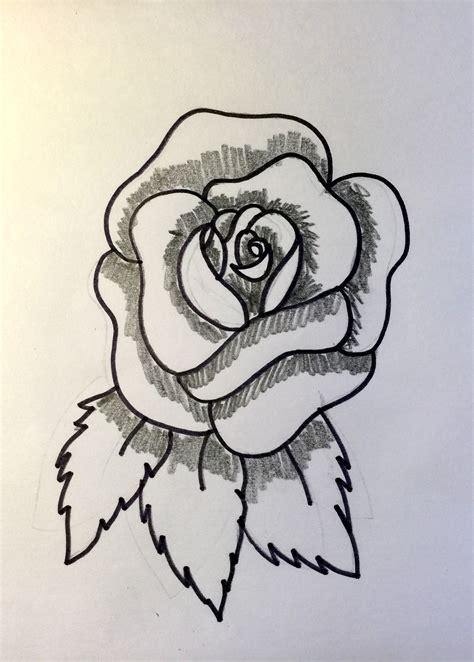 imagenes de una rosa para dibujar a lapiz c 243 mo dibujar una rosa abierta y cerrada 161 hoy no hay cole