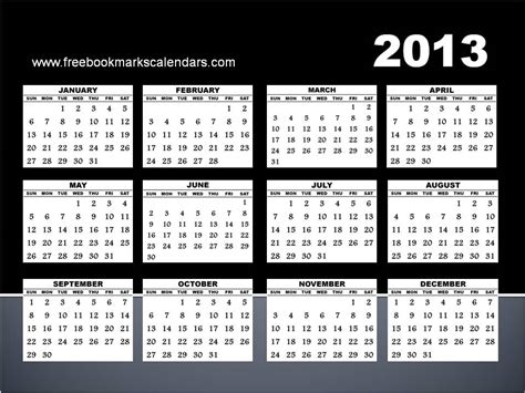 2013 calendar template free yearly calendar 2013 calendar template 2016