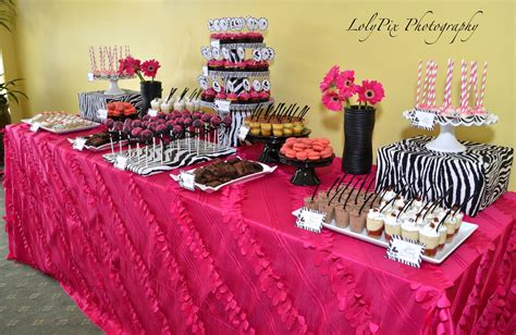 Pink And Zebra Baby Shower Ideas by Upscale Baby Showers Pink Zebra Baby Shower Real