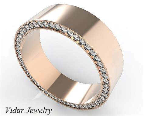 Mens Gold Wedding Bands by Gold Morganite Mens Wedding Band Vidar Jewelry