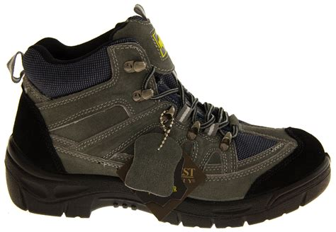 Azcost Hiker Safety Suede Mercy Leather Navy mens suede leather northwest territory site plant work rugged boots iso 20345 ebay