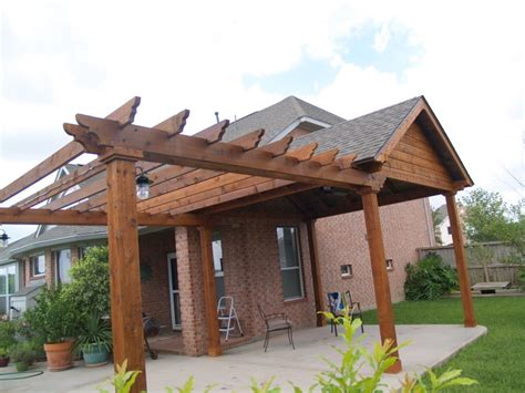 Post And Beam Patio Cover by Kerrville Construction