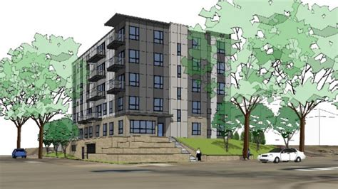 4 Unit Apartment Building Plans by 5 Story Marshall Ave Building Plan Submitted Hours Before