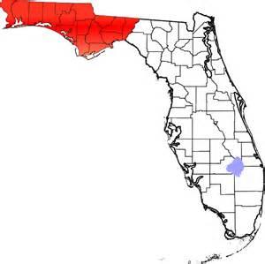 florida pan handle map panhandle florida map