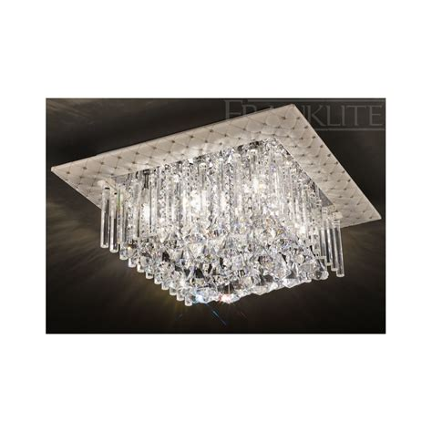 Square Ceiling Light Franklite Cascata Cf5677 Square Flush Ceiling Light Love4lighting