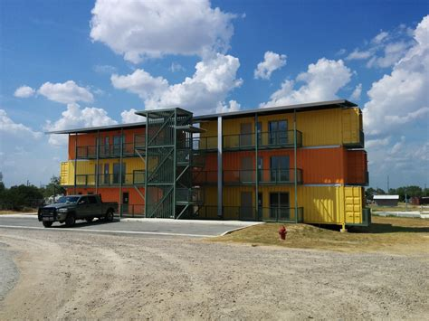 Shipping Container Apartments San Antonio Developer Completes Shipping Container Apartment Complex In Eagle Ford Shale Blogs