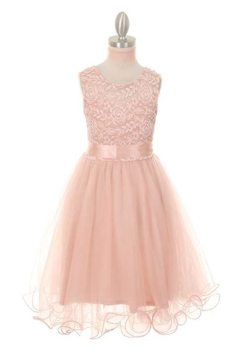 D8090 Dress Pink Flower blush pink flower dresses gown and dress gallery