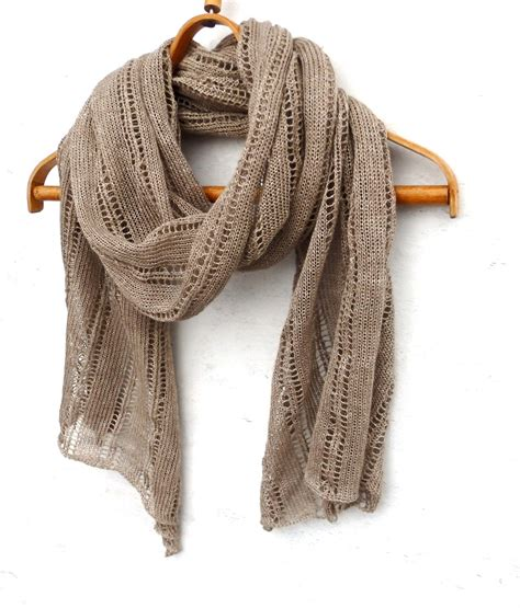 knitting wrap 1 knit linen shawl knitted lace summer scarf by