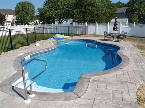 Inground Pool Decks Inground Pool Photos Deck Variations Niagara Pools And
