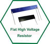 flat resistor shv high voltage electronic parts