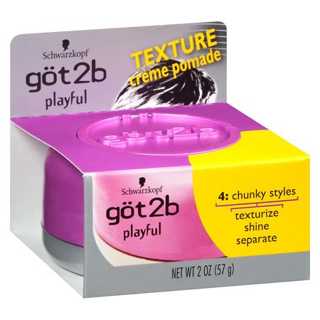 Pomade Got2b got2b playful texturizing creme pomade walgreens