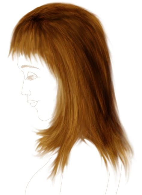 photoshop pattern hair how to draw hair in photoshop tutorial