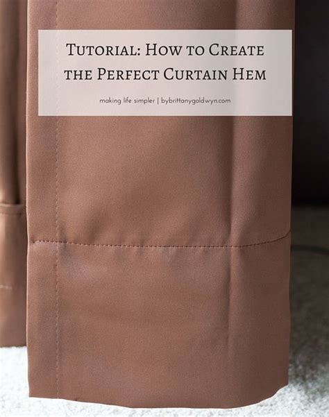 how to hem curtains without sewing 17 best images about window treatment on pinterest