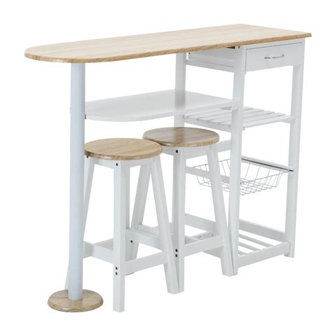 kitchen island cart with stools oak white kitchen island cart trolley dining table storage