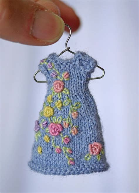 Dress Set Amelia Blue 39 best images about miniature knitted dresses on