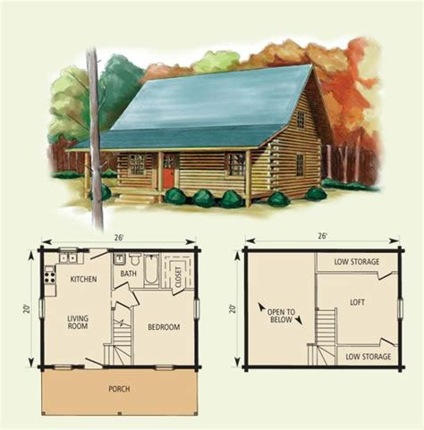 Log Cabin With Loft Floor Plans | cabin floor plans with loft hideaway log home and log