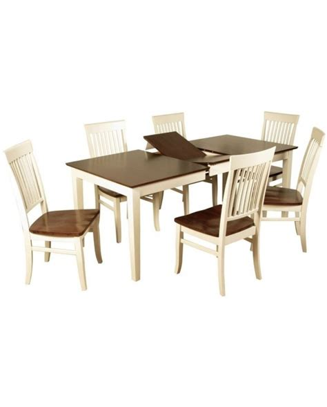dalton painted butterfly extension dining set