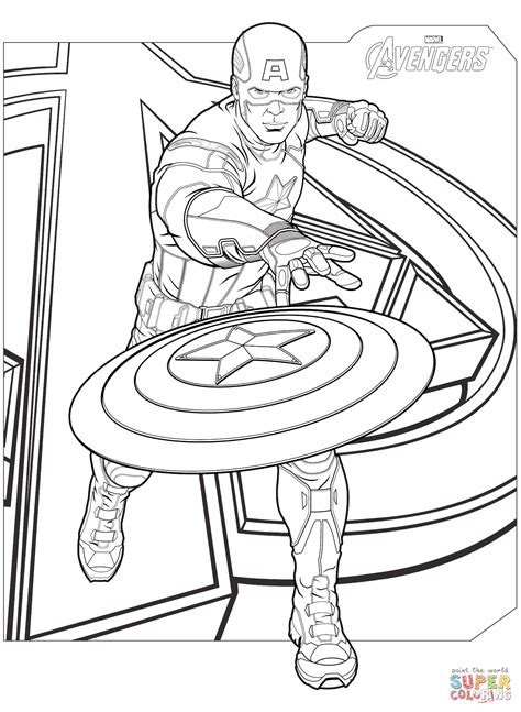 superhero coloring pages avengers avengers captain america coloring page free printable