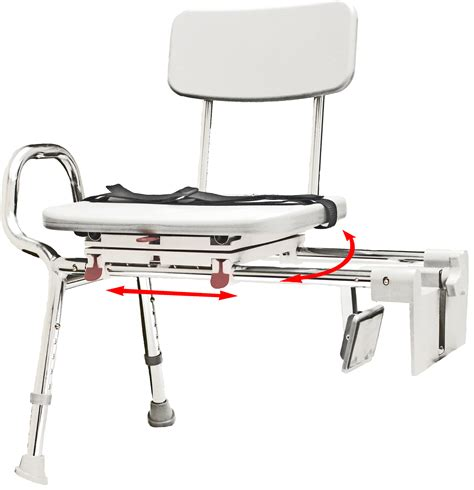 swivel bench eagle tub mount swivel sliding transfer bench 77762 at