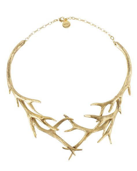how to make antler jewelry nest jewelry gold antler collar necklace