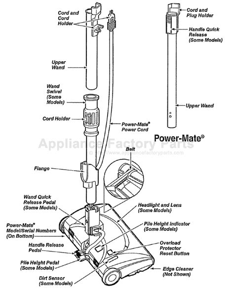 kenmore vacuum model 116 parts diagram parts for 116 29713991 kenmore vacuum cleaners