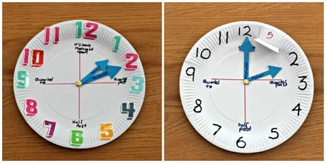 Make A Paper Clock Template - how to make a paper plate clock in the madhouse