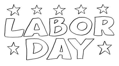 labor day coloring pages coloringsuite com