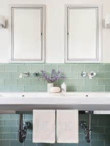 Glass Subway Tile Bathroom Ideas by Green Subway Tiles Contemporary Bathroom Sophie Metz