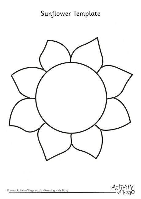 Sun Flower Template sunflower template 2