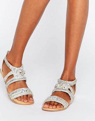 brautschuhe chagner flach river island river island embellished flat sandals
