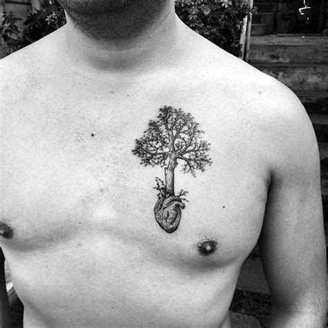 small chest tattoos men 60 small tree tattoos for masculine design ideas