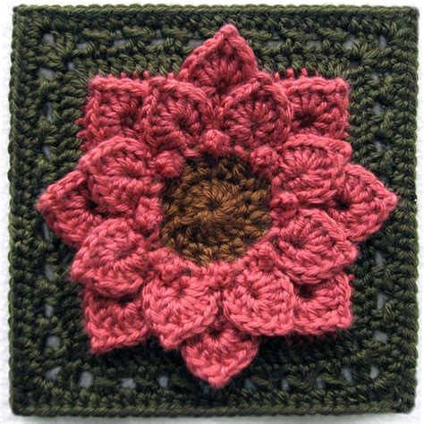 Dahlia By Yonna Collection free pattern absolutely gorgeous dahlia flower afghan