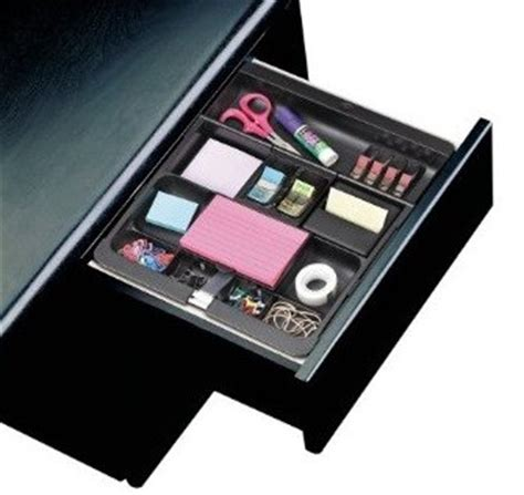 3m Desk Organizer 3m Post It C71 Desk Drawer Organizer Black