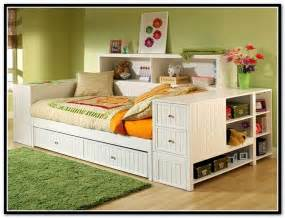 Full size bookcase bed with trundle home design ideas