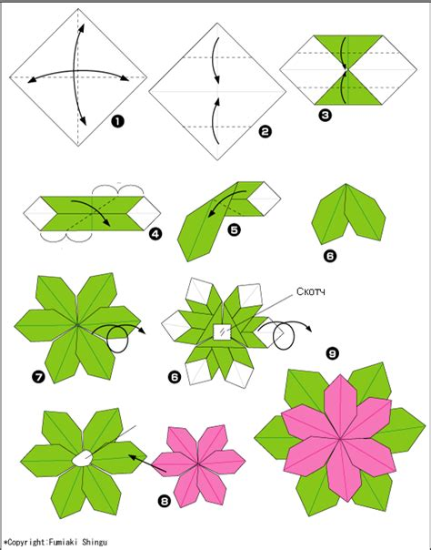 Basic Origami Flower - origami bird box diagram origami free engine image for