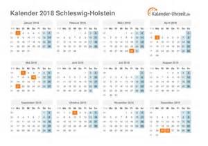 Kalender 2018 Ferien Deutschland Feiertage 2018 Schleswig Holstein Kalender