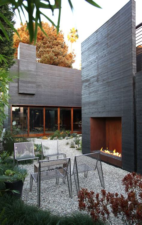 modern home design outdoor best 25 modern outdoor fireplace ideas on pinterest