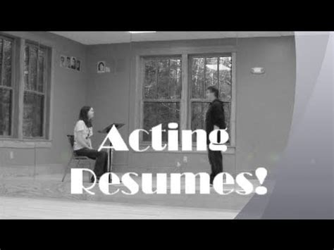 How To Write An Acting Resume by How To Write An Acting Resume Theatre