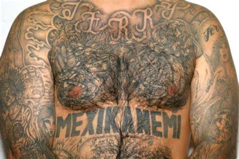 mexican mafia tattoos aryan gangsters use torches to burn sacred