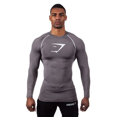 gymshark core top graphite  shirts gymshark