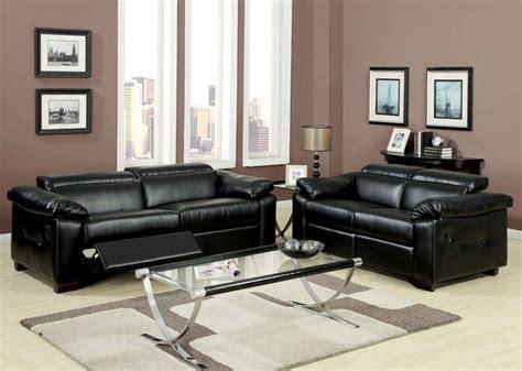 modern black leather reclining sofa loveseat