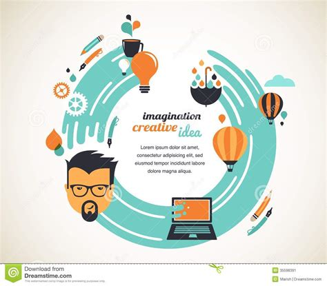 idea plans design creative idea and innovation concept stock image