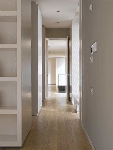 Wainscoting Ideas Bathroom by Hallway Contemporary Home In Monasterios Spain