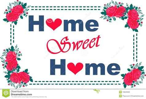 home sweet home royalty free stock photo image 15845605