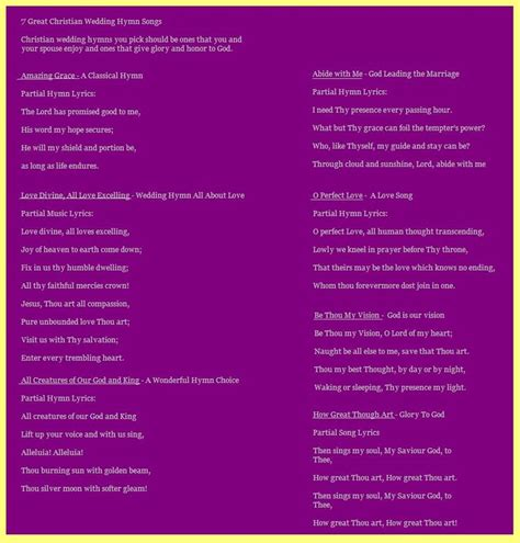 Wedding Ceremony Hymns by 1000 Images About Wedding Plan Hymns On