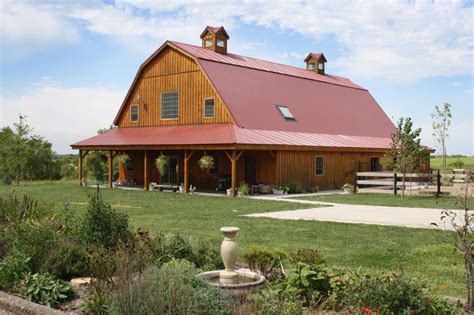 gambrel barn homes barn wood home great plains gambrel barn home project