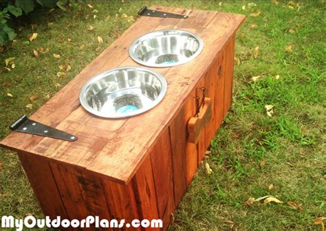 diy food  water dog tray  food storage