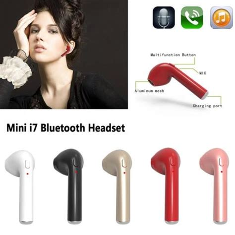 Lumin Hbq I7 Tws Single Wireless Earphone Headset Bluetooth hbq i7 tws true mini wireless bluetooth stereo headset for iphone samsung bug cell tv