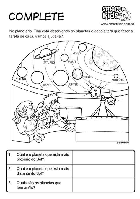 Atividade Planetário Complete - Atividades - Smartkids