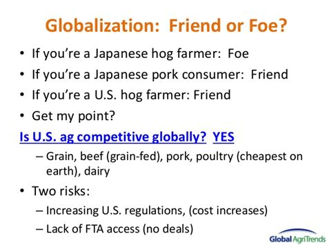 Matchmakers Friend Or Foe by U S Pork In The Global Market And Outlook